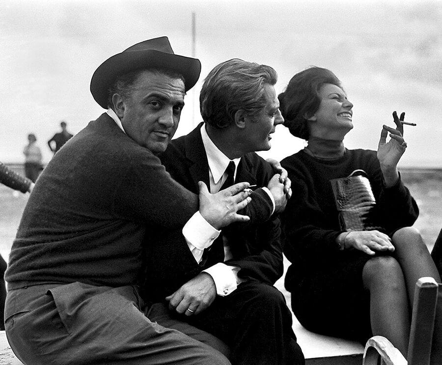 Marcello Mastroianni i Federico Fellini